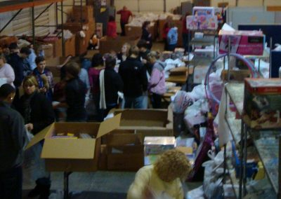 FireFighters 4 Kids Toy Drive Sorting Donations